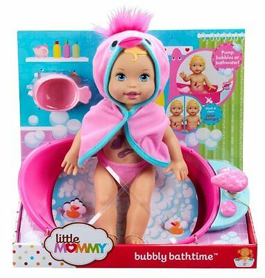NEW Mattel Little Mommy Bubbly Bathtime Doll with Bath Tub FREE SHIPPING