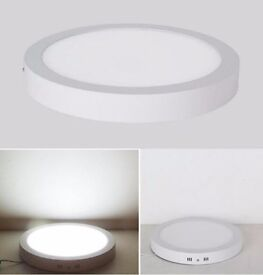 18W / 24W Surface Mount LED Panel Light Circular Round Ceiling Downlight Cool White