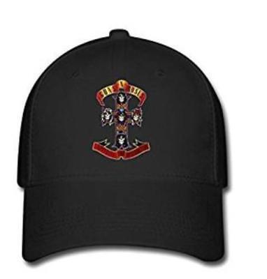 Men Custom Guns N' Roses Cross Logo Baseball Caps Adjustable Hats