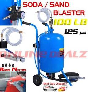 2 IN 1 100lb Portable Soda and Sand Blaster Pressure Abrasive Castle Hill The Hills District Preview