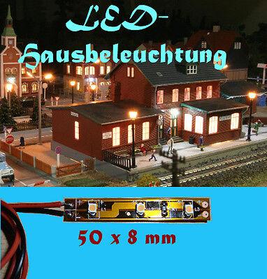 10 LED Hausbeleuchtung warmweiss anschlussfertig für H0