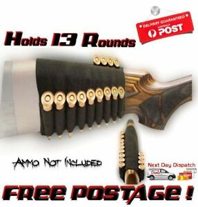 13 Round Universal Buttstock Rifle Cartridge Ammo Holder Carier Bullet Gun Shell