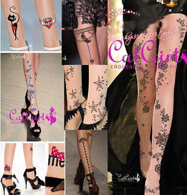 Special Tattoo Pantyhose Cute Colorful Pattern Stockings Sexy Halloween - Halloween Stocks