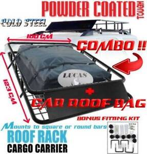 STEEL CAR ROOF BASKET + CAR ROOF BAG COMBO - BRAND NEW! Castle Hill The Hills District Preview