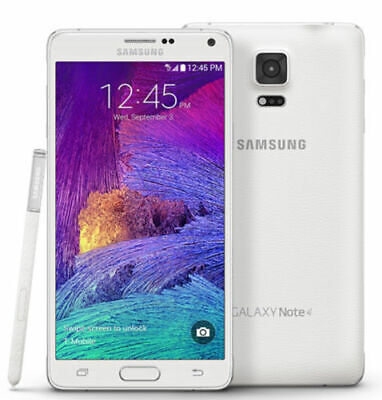 Samsung Galaxy Note4 SM-N910V CDMA Verizon 32GB GSM Unlock 4G LTE White -A