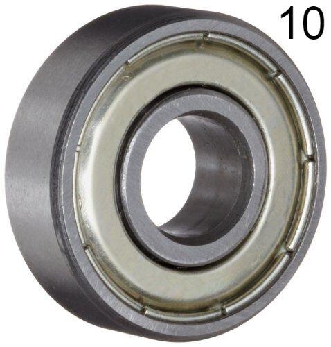 Ten (10) 608ZZ 8x22x7 Shielded Greased Miniature Ball Bearings