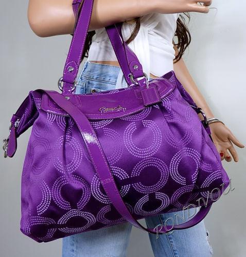 Coach Ashley Purple: Handbags u0026 Purses | eBay