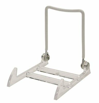 GIBSON HOLDERS 1PL Display Stand with Clear Base, Small, Whi