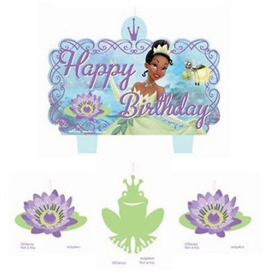 TIANA Cake CANDLES  Disney Princess & Frog birthday party supplies 4 pc molded](Princess Tiana Party)