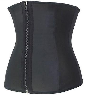 Women's Body Latex HOT Waist Trainer Cincher Slimming Shaper Zip And Clip Corset