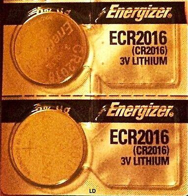 Energizer ECR2016 CR2016 BR2016 Lithium3V Battery (2piece) New Authorized Seller