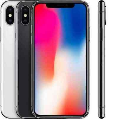 Apple iPhone X (10) Factory Unlocked 64GB/256GB iOS WiFi Smartphone Grey Silver
