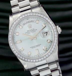 mens diamond rolex wristwatches mens rolex president diamond bezel
