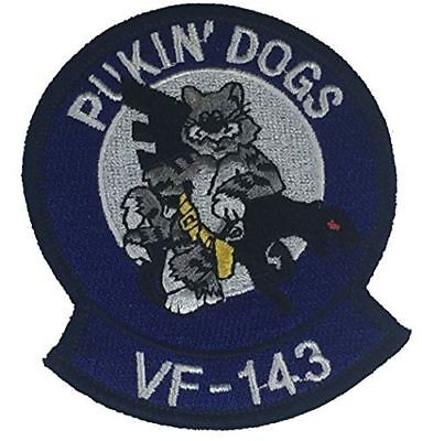 USN VF-143 PUKIN' DOGS NAVY FIGHTER SQUADRON PATCH KING PINS