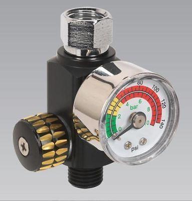 Sealey AR01 On Gun Air Pressure Regulator Gauge Spray Gun Air Tool Accessories