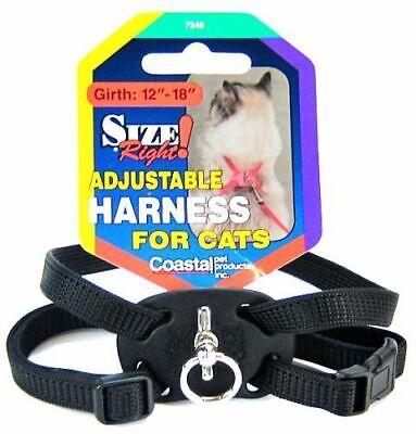 "Coastal Pet Products Cat Adj 07348-BLK18"" Harness"