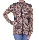 Leopard Leopard Synthetic Coats, Jackets & Vests for Women