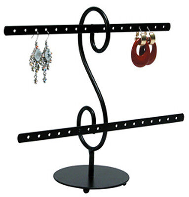 Wire Earring Black Display Stand Countertop 16 Pair