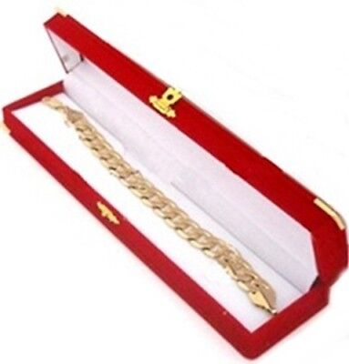 12 Red Velvet Brass Bracelet Watch Jewelry Presentation Display Gift Boxes