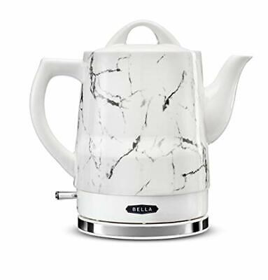 BELLA 14743 Electric Tea Kettle, 1.5 LITER, White Marble