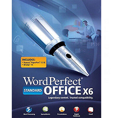 COREL WORDPERFECT OFFICE X6 STANDARD INCL QUATTRO PRO X6,PRESENTATIONS X6, More. for sale  Shipping to India