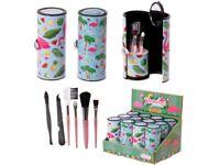 Fun make up utensil kit- flamingo