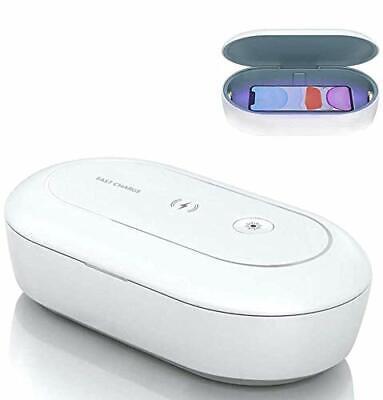 AONCO UV Licht Sterilisator mit Wireless Charger, 10W UV-C Desinfektionsgerät