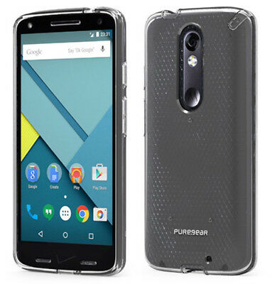 PUREGEAR SLIM SHELL CLEAR CASE COVER FOR VERIZON MOTOROLA DROID TURBO 2 XT1585