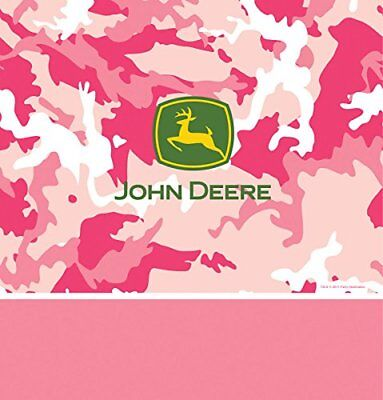 John Deere Pink Camo tablecloth Table Cover Decorations Party Supplies](John Deere Party Decorations)