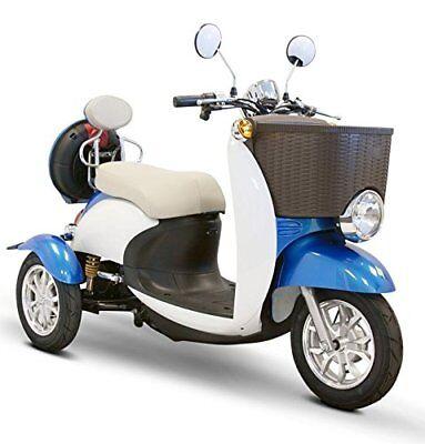 Blue & White EWheels EW-11 Sport Electric Scooter, 3 Wheels, 18 mph, 2 Riders