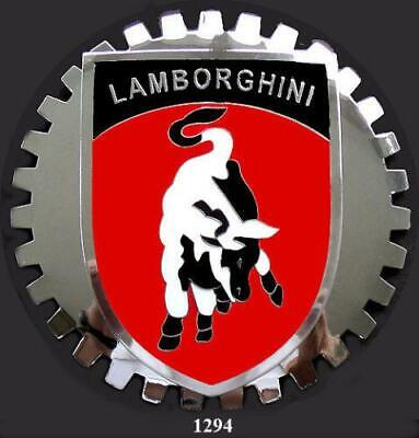 LAMBORGHINI CREST COAT OF ARMS CAR GRILLE BADGE EMBLEM