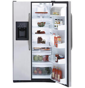 GE Stainless Steel Side by Side Fridge with Water/Ice Dispenser