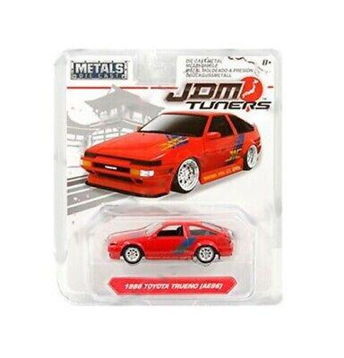 JDM Tuners 1986 Toyota Trueno AE86 Red 1/64 Diecast Model Car 30484 by Jada ()