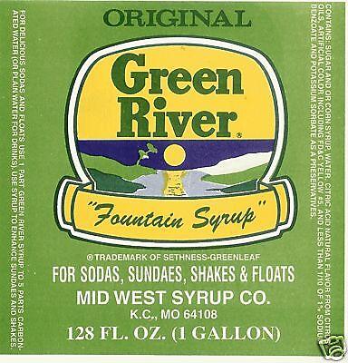 Green River  Soda Fountain Syrup - 1 Gallon