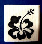 Hibiscus Rubber Stamp