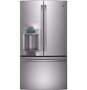 Frigo 36'' Stainless, Portes françaises / 36'' Fridge, French doors, GE Profile