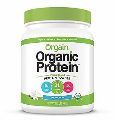 Orgain Organic Vegan Protein Powder, Sweet Vanilla Bean, 1.0