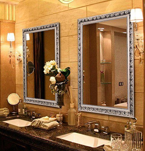 Han & Alice™ Rectangular Wood Frame Wall Mounted Mirror