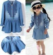 Girls Denim Dress Size 6