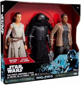 "Star Wars The Force Awakens 18-20"" (45-51cm) Figures 3 Pack"