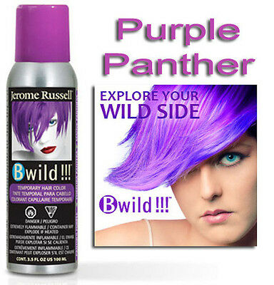 Jerome Russell B Wild Hair Color Spray PURPLE PANTHER  3.5oz  - Purple Hair Color Spray