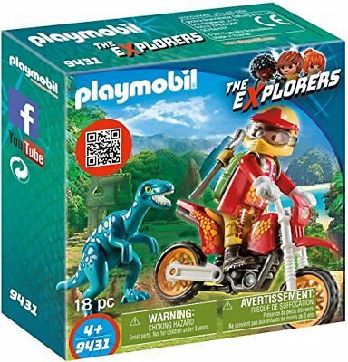 Playmobil 9431 Motorbike with Raptor Toy Set