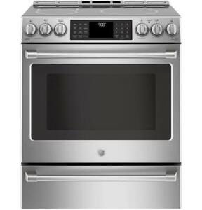 30 induction range, double oven, Wi-Fi, 6.7 cu ft, GE