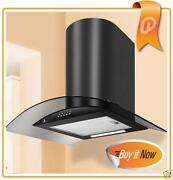 Black Glass Cooker Hood