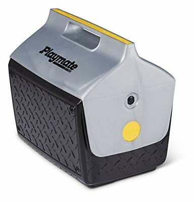 IGLOO Camping Playmate The Boss Cool Box, 14.8 Liter, Black/Silver, 13.2 Liter