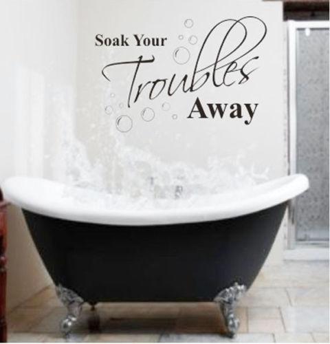 bathroom vinyl wall quotes ebay
