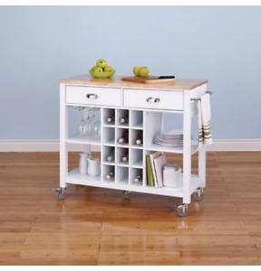Kitchen cart / island with wine storage