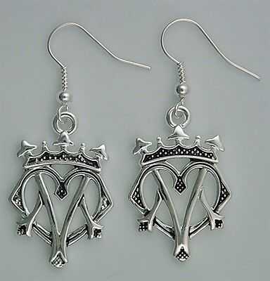 Sterling Silver over Pewter Bold Luckenbooth Earrings