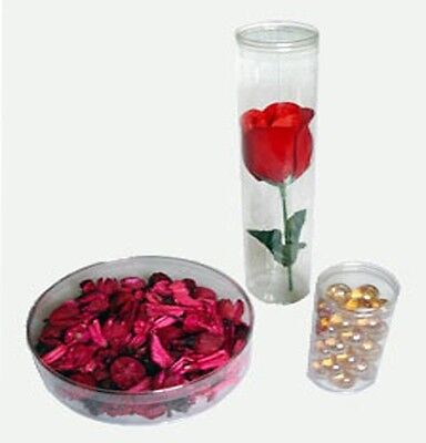 """48 2""""(D)x7"""" Plastic Tube Cylinder Box Retail  Display Candle Party Wedding Favor"""