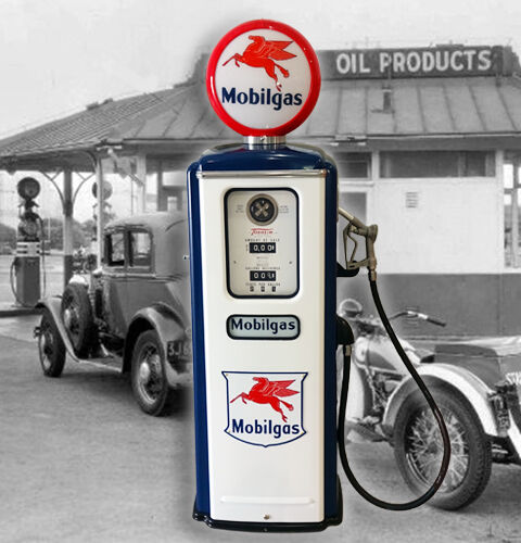 Mobil Gas Model 39 Tokheim Full Size Gas Pump - Vintage Petroliana Style